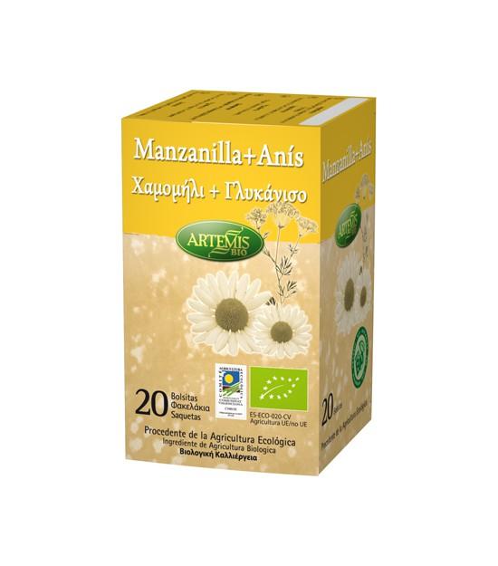 Infusión MANZANILLA con ANÍS 20 filtros Artemis