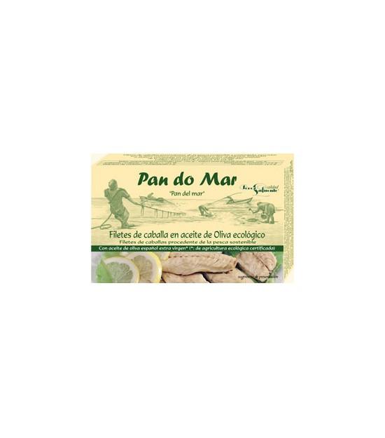 Filetes CABALLA en aceite de oliva 120 g. Pandomar