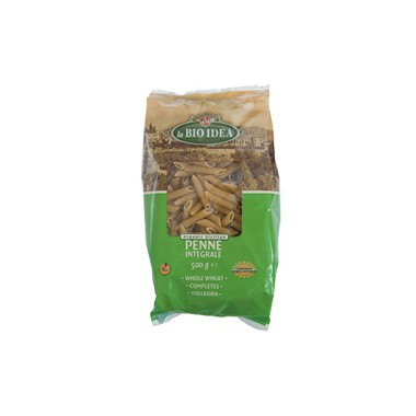 Macarrones trigo INTEGRALES 500 g. Bioidea