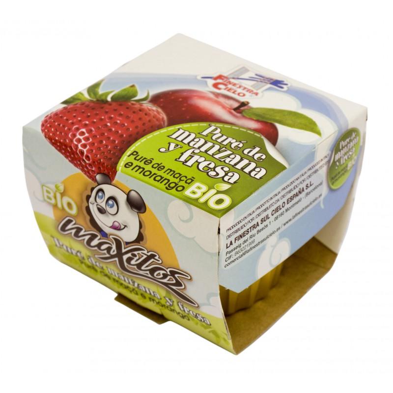 Pur de manzana y fresa 200 g la finestra la natural - Pure de castanas y manzana ...