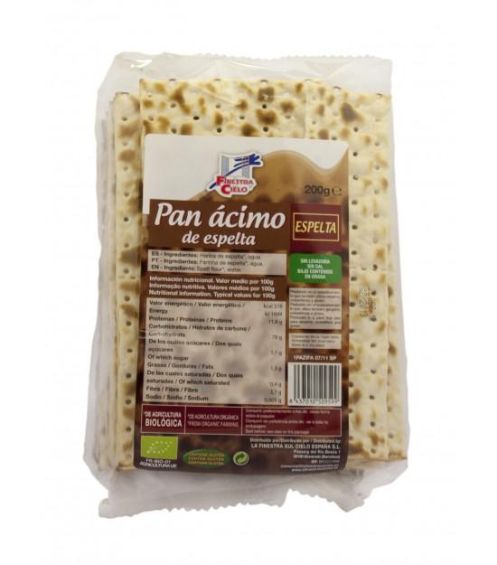 Pan ÁCIMO de espelta 200 g. La Finestra