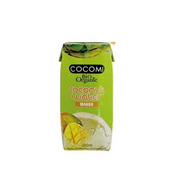 Agua de coco con mango bio 330ml.