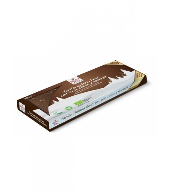 Turrón Quinoa cacao coco y naranja 200 g Finestra