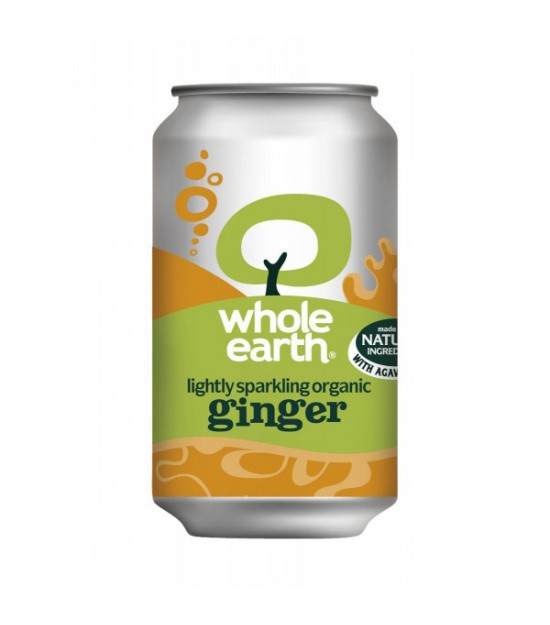 Refresco JENGIBRE sin azúcar 330 ml. Whole Earth