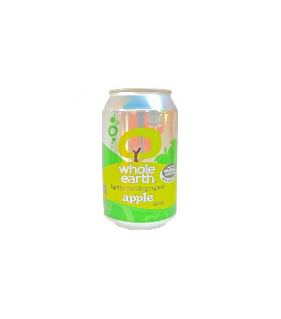 Refresco de MANZANA sin azucar 330 ml Whole Earth