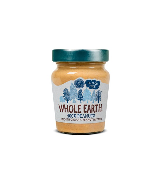 Crema de cacahuete smooth 227 g. Whole Earth