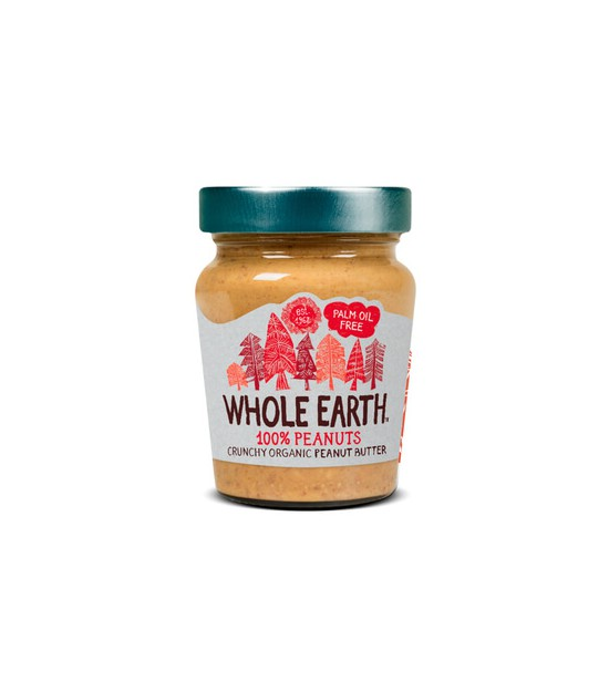 Crema de cacahuete crunchy 227 g. Whole Earth