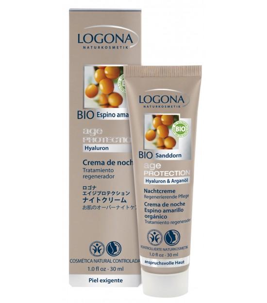 Crema de noche Age protection Logona