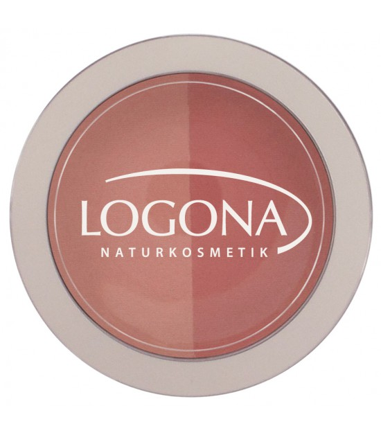 Colorete Duo beige + terracotta 03 Logona