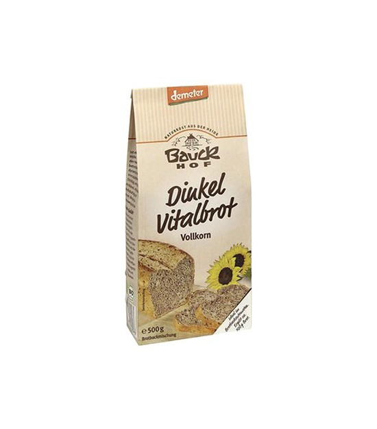 Pan VITAL espelta con semillas (premezcla) 500 g. Bauck Hof