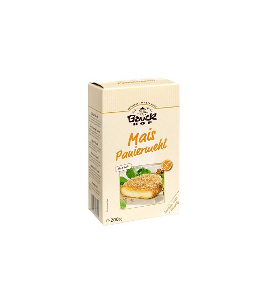 Pan rallado de MAIZ para rebozar s/g 200 g. Bauck Hof