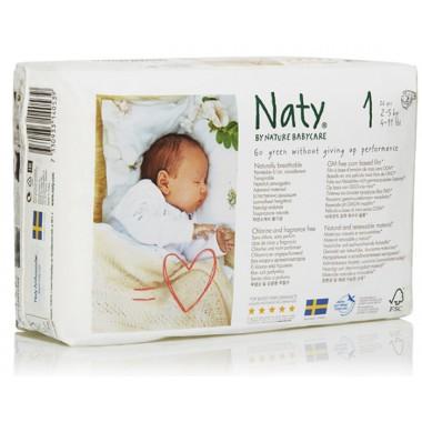 Pañales recién nacido Talla 1 26 ud. Naty