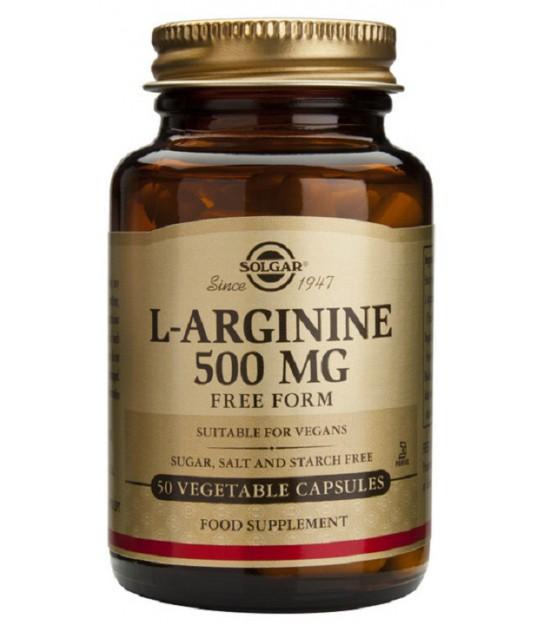 L-Arginina 500 mg. 50 cáps. Solgar