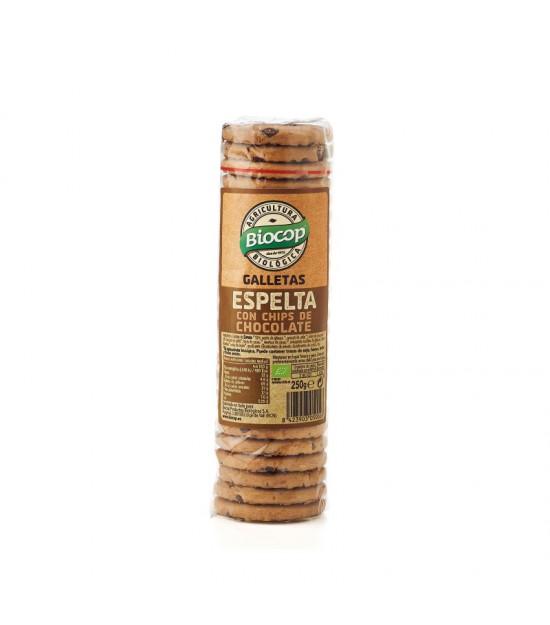 Galleta ESPELTA chips CHOCO 250 g Biocop