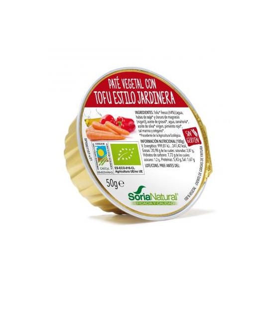 Pate de tofu ESTILO JARDINERA 50 g. Soria Natural