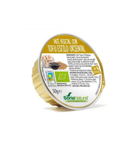 Paté tofu ESTILO ORIENTAL 50 g. Soria Natural