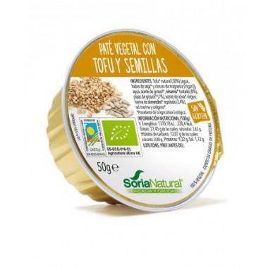 Paté vegetal TOFU y SEMILLAS 50 g. Soria Natural