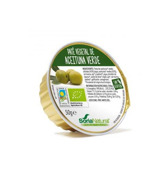 Paté de ACEITUNA VERDE 50 g. Soria Natural