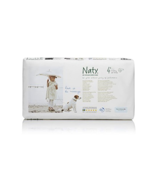 Pañales Maxi talla 4+ 9-20kg. 44 uds. Naty