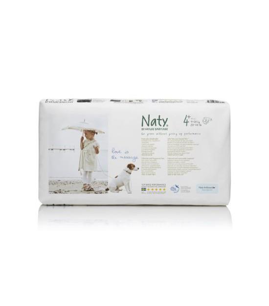 Pañales talla 4+ Maxi 9-20 kg. 42 ud. Naty