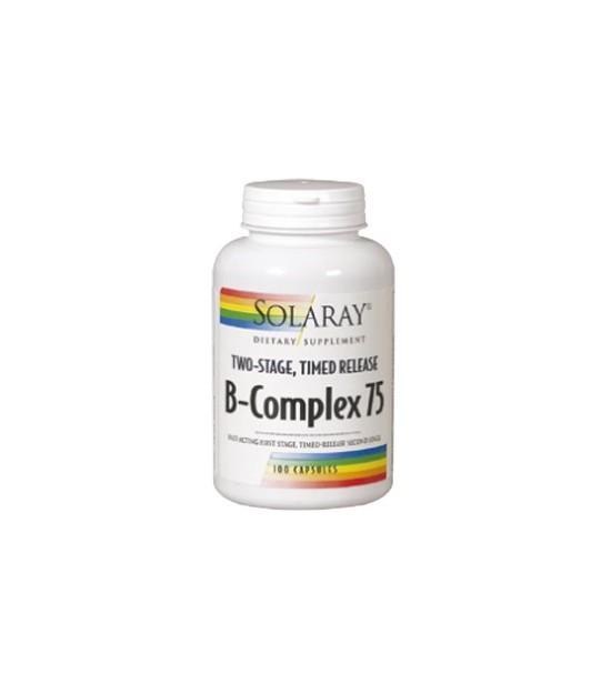 B COMPLEX 75 A/R 100 cap Solaray