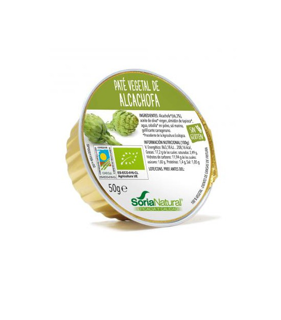 Paté vegetal ALCACHOFA 2x50 g. Soria Natural