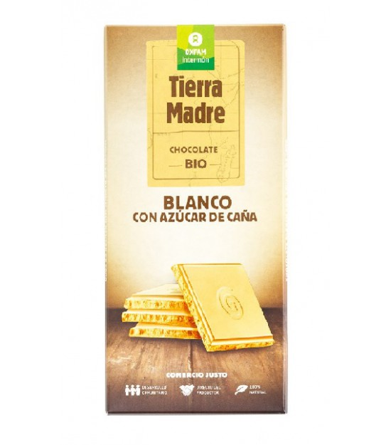 Tableta choco BLANCO con MASCOBADO 100 g. Intermon