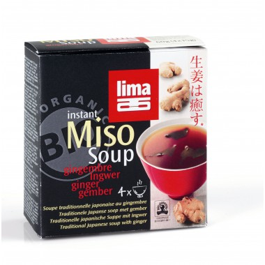 Sopa INSTANT MISO JENGIBRE  4x15 g. Lima