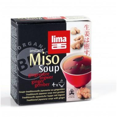 SOPA INSTANT MISO JENGIBRE LIMA  4x15 G