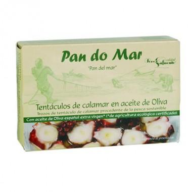 TENTÁCULOS de CALAMAR aceite oliva 120 g. Pandomar