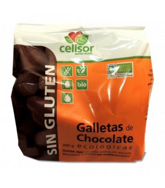 Galletas CHOCOLATE sin gluten 200 g. Soria Natural