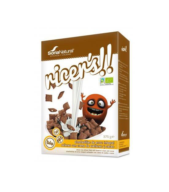 RICER´S almohadillas arroz cacao y avellanas 375 g Soria
