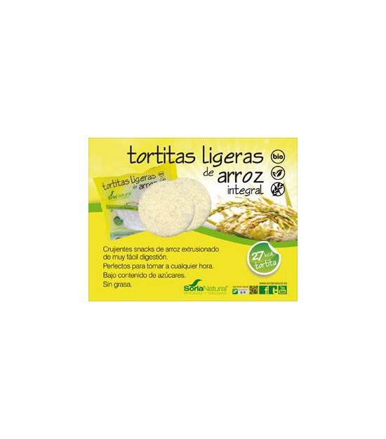 Tortitas ligeras de arroz integral Sin Gluten