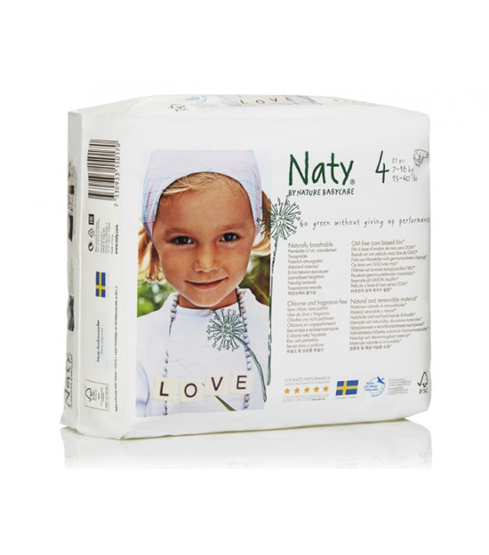 Pañales Nature talla Maxi 7-18 kg