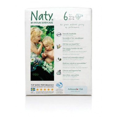 Pañales Talla 6 +16 Kg. 17 uds. Naty