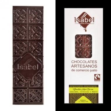 Tableta Chocolate negro, Jengibre, cítricos y ment