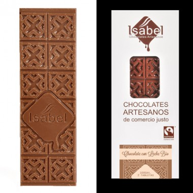 Tableta Chocolate con leche 80 g. Isabel
