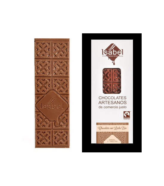 Chocolate con LECHE 80 g. Isabel