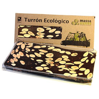 Turrón CHOCOLATE y ALMENDRAS 200 g. Massaxuxes