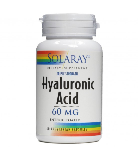Ácido Hyaluronico 60mg. 30cap SOLARAY